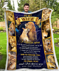 To My Wife - Wedding Anniversary - LION - I Choose You Fleece Blanket