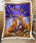 FOX - Wedding Anniversary - I am always with you Fleece Blanket