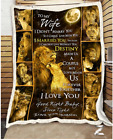 LION - To my Wife - Destiny Fleece Blanket