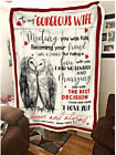 OWL - To my Wife - Meeting you was fate Fleece Blanket