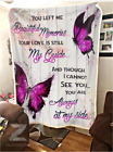 Butterfly - Always At My Side Fleece Blanket