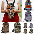 Canvas Pet Carring Backpack Dog Outdoor packet Shoulders Handle Bags Mesh bag