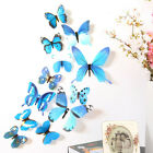 12pcs Decal Wall Stickers Home Decorations 3d Butterfly Rainbow Stickers