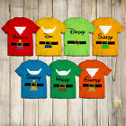 7 Dwarfs Snow White Costumes Halloween For Adults Customized Handmade T-Shirt
