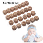 Alphabet/Letters Handmade Natural Wooden Baby Teether Mom DIY Necklace Beads