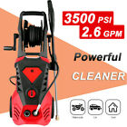 3500PSI 2.6GPM Electric Pressure Washer High Power Pressure Cleaner Sprayer US