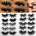 Thick Long 27mm Lashes False Eyelashes 3D Soft Mink Hair Eye Lash Extension