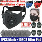 Breathable Sports Cycling Mask Shield Air Purifying Anti-fog Carbon Filter Pad