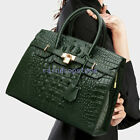 100 Genuine Leather Women's Elegant Crocodile Handbags Satchel Tote Designer