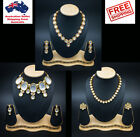 New Indian Traditional Jadau Kundan Set With Earrings Party Jewellery Jewelry