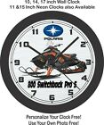 Polaris 800 Switchback Pro S Snowmobile Wall Clock-Free US Ship
