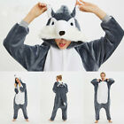 Unisex Adult Onesie0 Fancy Dress Cosplay Kigurumi Pyjamas Costume Hooded Animal