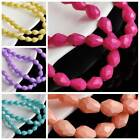 50pcs 8X6mm Teardrop Spacer Loose Faceted Glass Beads For Jewelry Making Craft