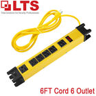 LTS-6FT-Cord-68-Outlets-Metal-Housing-Power-Strip-200-Joule-Surge-Protection-US