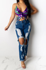 Kyпить Colorful lace up butterfly Sequin top на еВаy.соm
