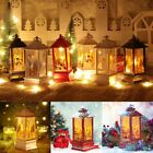Christmas Glitter LED Lantern Light Up Xmas Candle Flame Lamp Decor Ornament