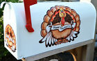 Mailbox Magnet Partial Cover Happy Thanksgiving Day Turkey Holding Banner Car