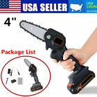 Mini Chainsaw, 4 Inch Cordless Electric Protable Chainsaw Rechargeable Battery