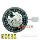 NH35/NH35A Black Date Wheel Disc Automatic Movement With Stem Date at 3