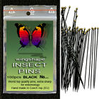 Entomology Insect Pins,BLACK,size from 000 to 7, 1pkt 100pcs ,WORLD TOP QUALITY