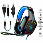 Gaming Headset Mic Stereo Surround LED Headphone USB 3.5mm for Xbox one Laptop