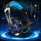 LED Gaming Headset Stereo Headphone Noise Cancelling Mic For PS5 Nintendo Switch