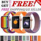 Woven Nylon Band For Apple Watch Sport Loop Iwatch Series 5/4/3/21 38/42/40/44mm