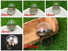 DIY Miniature Glass Display Globe Bottle Dome with Alloy Base Memory Locket 35mm