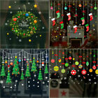Merry Christmas Gift Wreath Wall Window Stickers Decals Xmas Home Shop Decor Diy