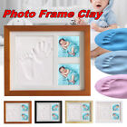 Baby Hand  Foot Print Clay Cast Kit  2 Photo Picture Frame Christening SU