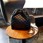 Cc Fashion Purse Mini Backpack Gold Silver Chain Quilted Bag