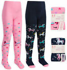 Girls Unicorn Tights Cotton Rich Winter Knitted Tights Ages 2 3 4 5 6 7 8 Years