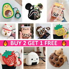 AirPods 1/2 Cute Animal Food Cartoon Silicone Case Skin Cover for Apple Airpods