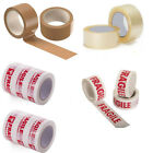 NO NOISE Long Length Packing Tape Strong BROWN/ CLEAR/ FRAGILE 48MM x 66M ITALY