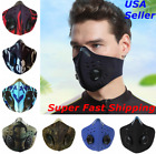 Face Mask Reusable Washable Covering Cycling Dual Exhalation Valves with Filter