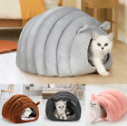 Pet Small Dog Cat Cave Bed House Igloo Washable with Inner Cushion Mat Basket UK