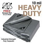 Premium Heavy Duty Canopy Tarp Poly Tarpaulin Reinforced Tent Car Boat Cover