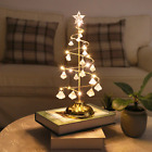 Christmas LED Spiral Crystal Gifts Tree With Drop Down Night Light Home Decor UK