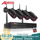 ANRAN 5.0MP HD Wireless Security Camera System CCTV Outdoor 4CH NVR WIFI Set 2TB
