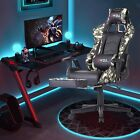 ⭐ERGONOMIC GAMING RACING CHAIR COMPUTER DESK SWIVEL OFFICE EXECUTIVE PU LEATHER⭐