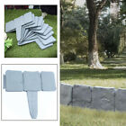 10-50PC Garden Lawn Cobbled Stone Effect Edging Plant Border Simply Hammer In UK