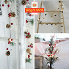 Christmas Fairy String Lights LED Pine Cone Red Berry Tree Garland Party Decor