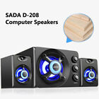 SADA D-211 3 in 1 3.5mm Wired Speakers Computer Subwoofer USB Powered Soundbox