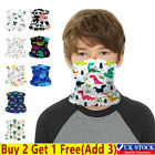 Kids Boys Girls Face Cover Neck Warmer Tube Scarf Biker Snood Balaclava Bandana