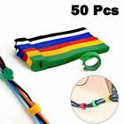 50pcs Reusable Strap Organizer Cable Cord Wire Wrap Tie Tidy Straps Adjustable