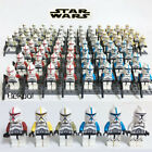 100X Minifigures Star Wars Red Black Trooper 501st Clone Army Building toys kids