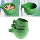 Mini Parrot Food Water Bowl Feeder Plastic Birds Pigeons Cage Sand Cup Feed SQi4