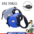 8M Dog Leads Retractable Long Extending Rope Cord Pet Training Max 50KG UK