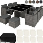Rattan Aluminium Garden Furniture Chairs Set Poly Rattan Wicker Seats Table New