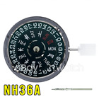 NH36/NH36A Kanji Black Date Wheel Automatic Movement Date at 3 Crown at 3